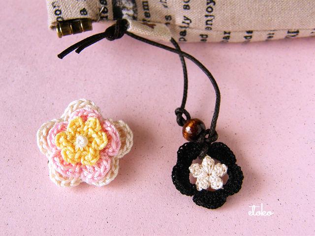 クロッシェレースのお花が2種類