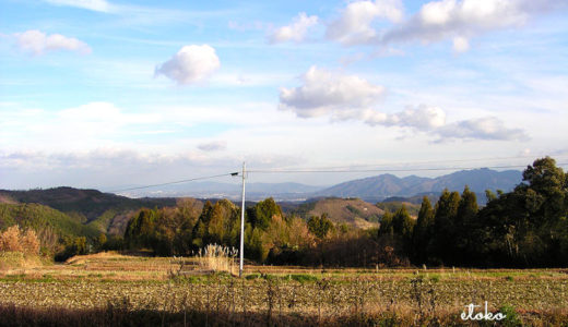 のどかな田舎の山間