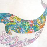 ジョハンナ・バスフォード「海の楽園」よりクジラ
