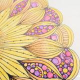 水彩色鉛筆の練習にマンダラを塗る