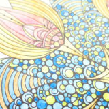 ダーウェント水彩色鉛筆で塗ったマンダラの拡大図