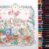 色の決め方とフリー塗り絵Christmas Time