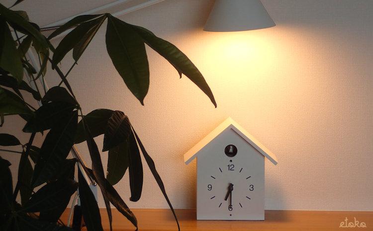 長針が壊れた無印良品の鳩時計