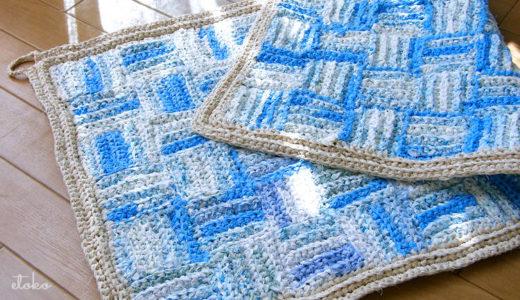 裂き編みでキッチンマット
