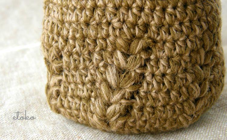 かぎ針編みの模様部分