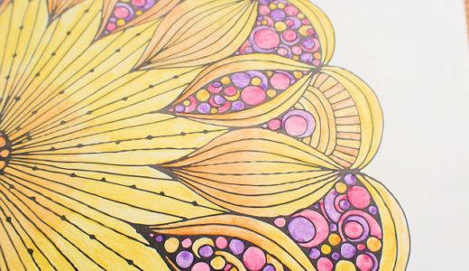 水彩色鉛筆の練習