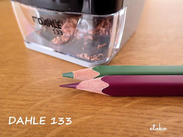 DAHLE133で削ったフェリシモの色鉛筆
