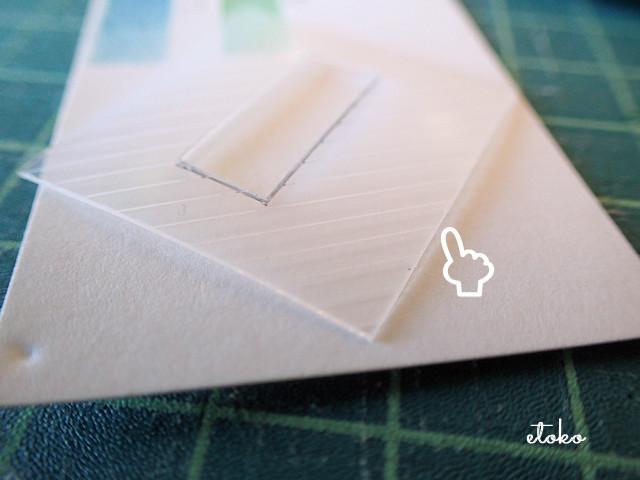 鉛筆削りの空箱で作った型紙シート