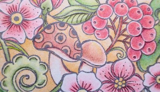 ダーウェントアーチストのレビューとRita Bermanのフリーダウンロード塗り絵 Bloom Mandala