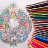 リタさんのフリー塗り絵Mandala Christmas