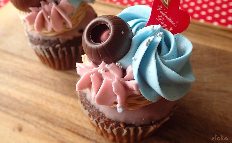 モイッカ(つくば市)のバレンタインチョコレートカップケーキ
