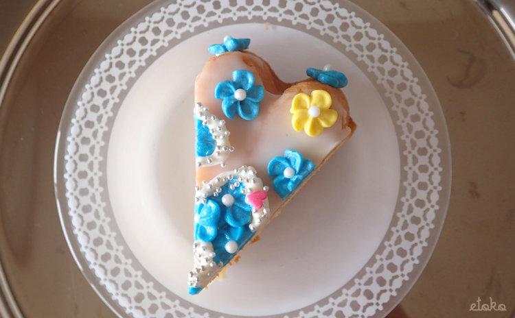 モイッカ(つくば市)のカットケーキを見下ろしたところ