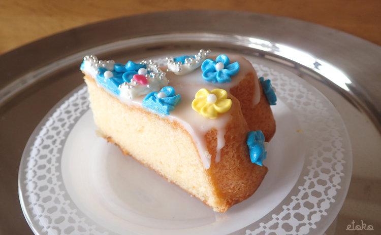 モイッカ(つくば市)のはちみつレモンケーキをカットしたもの
