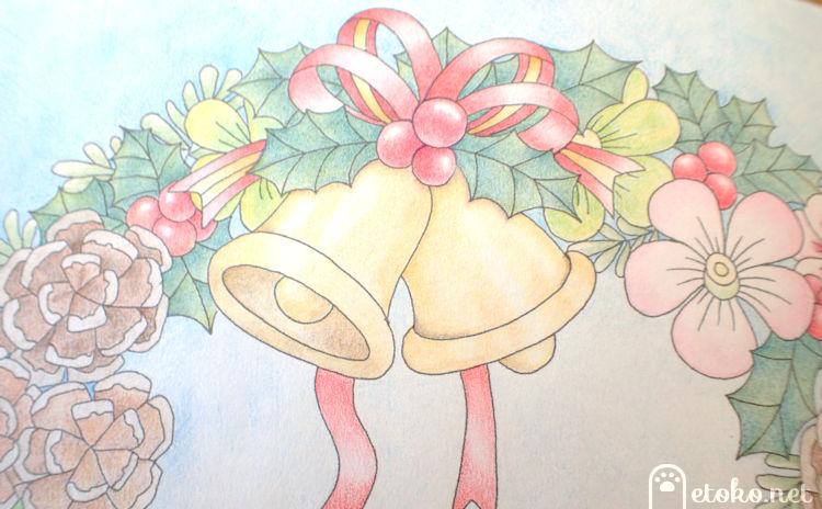 クリスマスベル、クリスマスホーリーなどクリスマスリースの一部